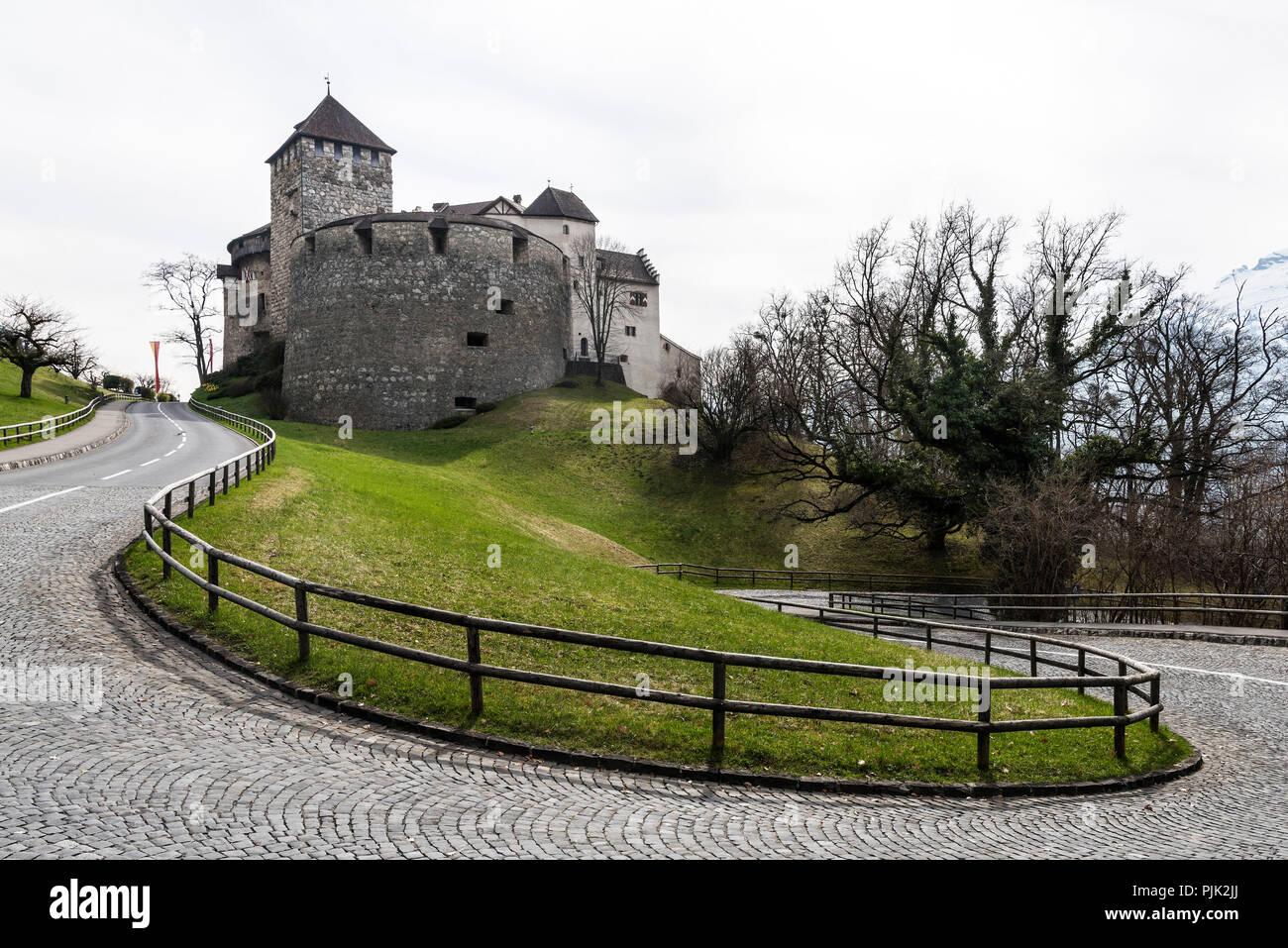 Vaduz Castle, Principality of Liechtenstein - Stock Image