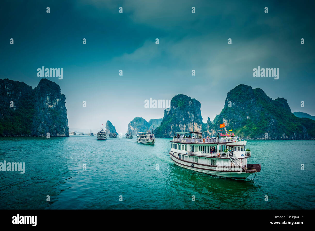 Asia, Vietnam, Quang Ninh province, Halong Bay Stock Photo