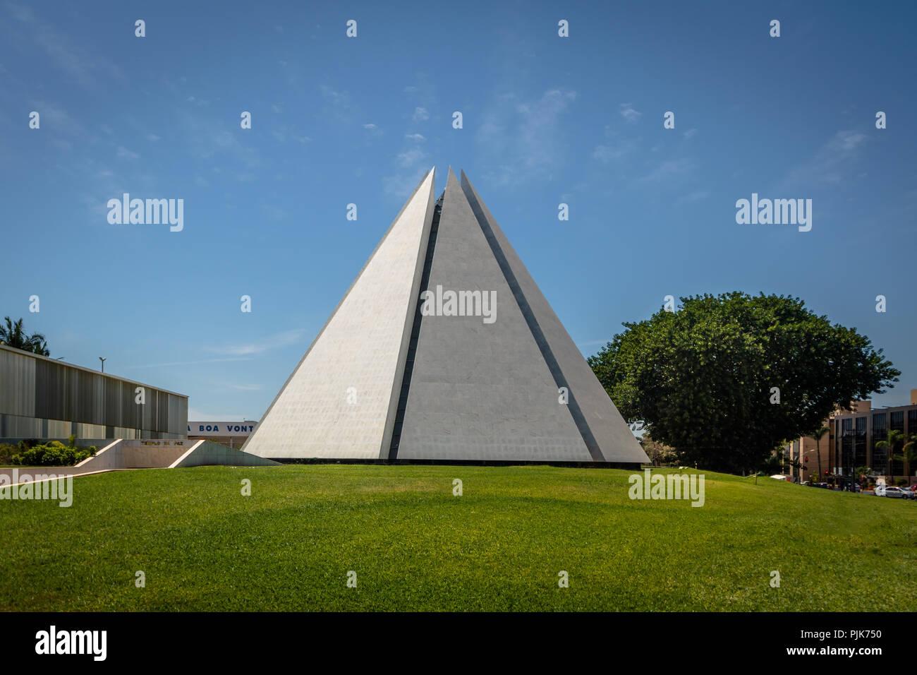 Temple of Good Will (Templo da Boa Vontade) - Brasilia, Distrito Federal, Brazil - Stock Image