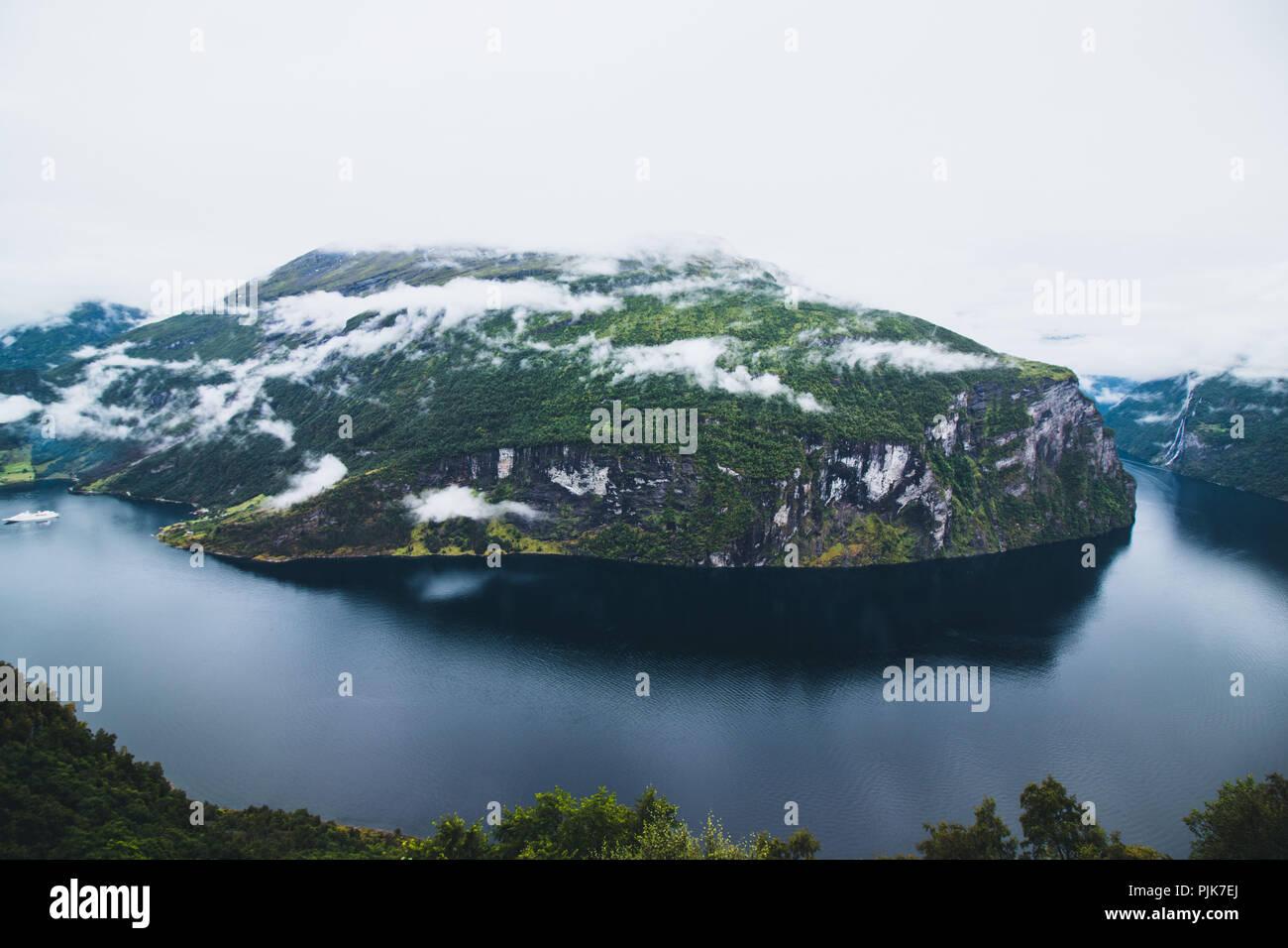 Norway, Møre og Romsdal, Stranda, Geirangerfjord - Stock Image