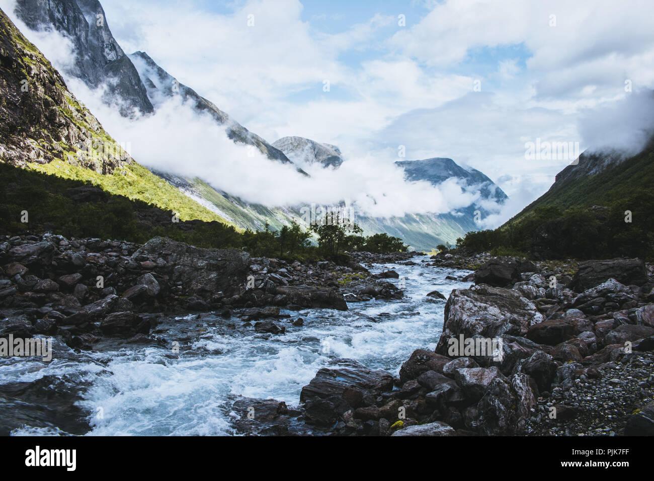Norway, Møre og Romsdal, Trollstigen - Stock Image