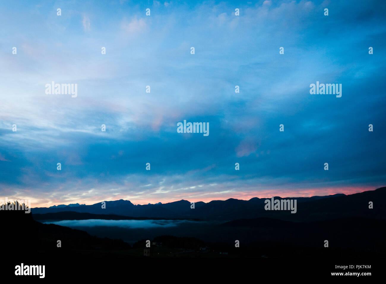 Evening, Obermillstatt, Lake Millstatt, Carinthia, Austria - Stock Image