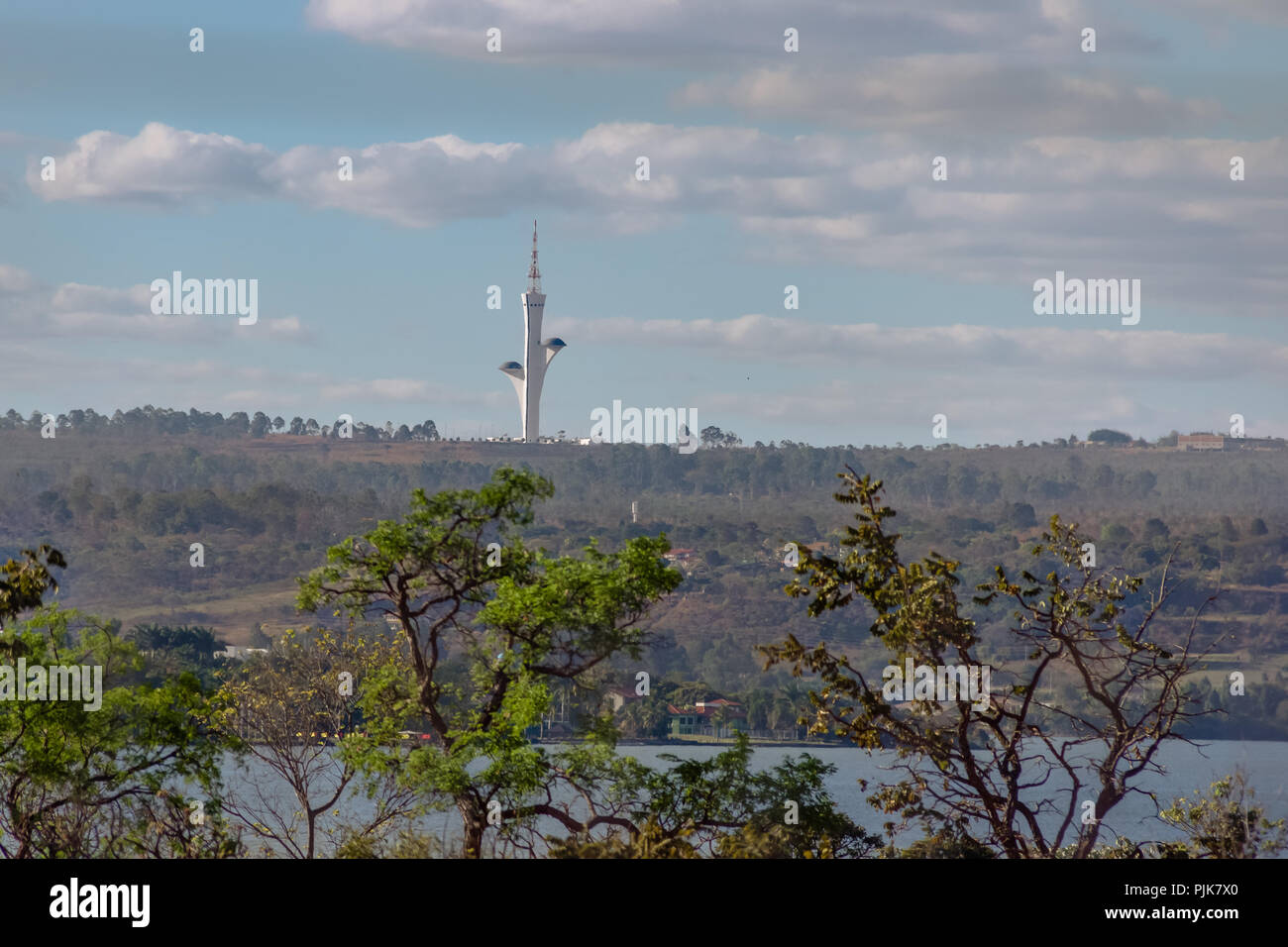 Digital Television Tower (Torre de TV Digital) - Brasilia, Distrito Federal, Brazil - Stock Image
