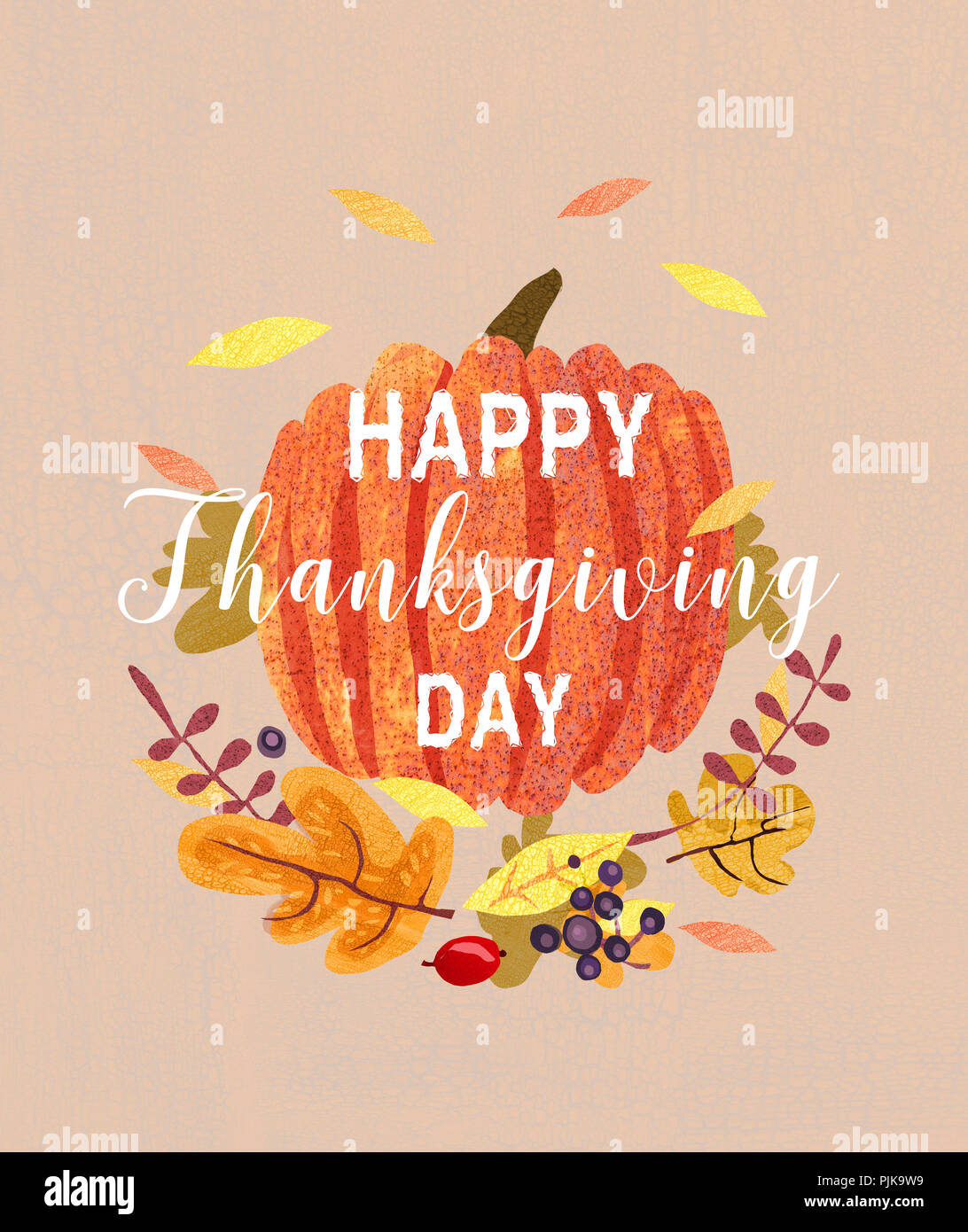 Happy thanksgiving card design position of plants leaves and happy thanksgiving card design position of plants leaves and pumpkin autumn greeting card m4hsunfo