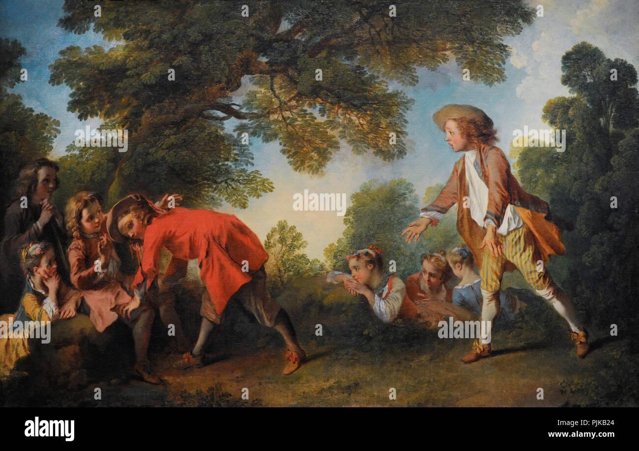 Nicolas Lancret (1690-1745). French painter. Children at Play,  ca.1730-1735. Wallraf-Richartz Museum. Cologne. Germany.