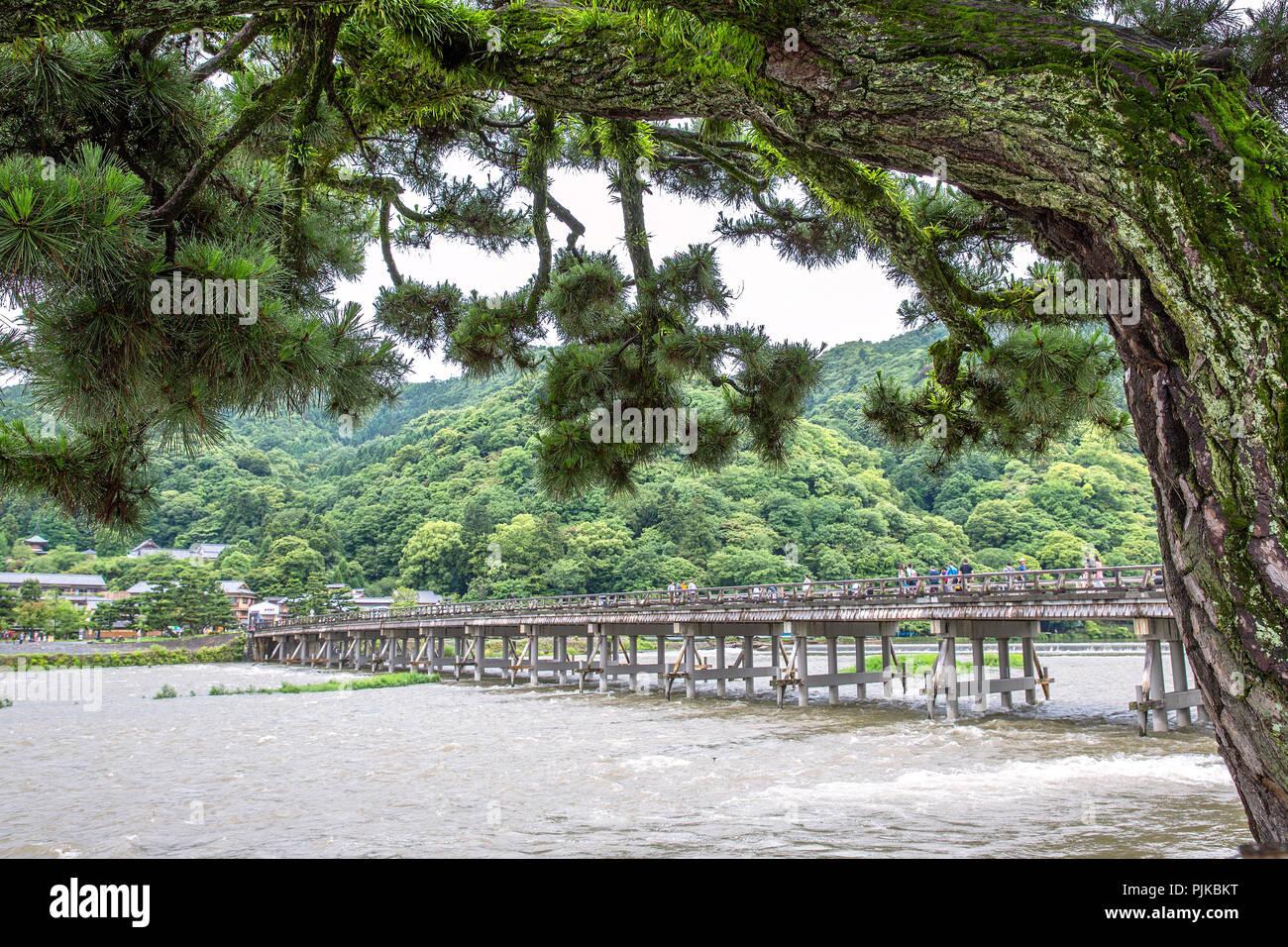 Arashiyama & TogetuKyo Bridge - Stock Image