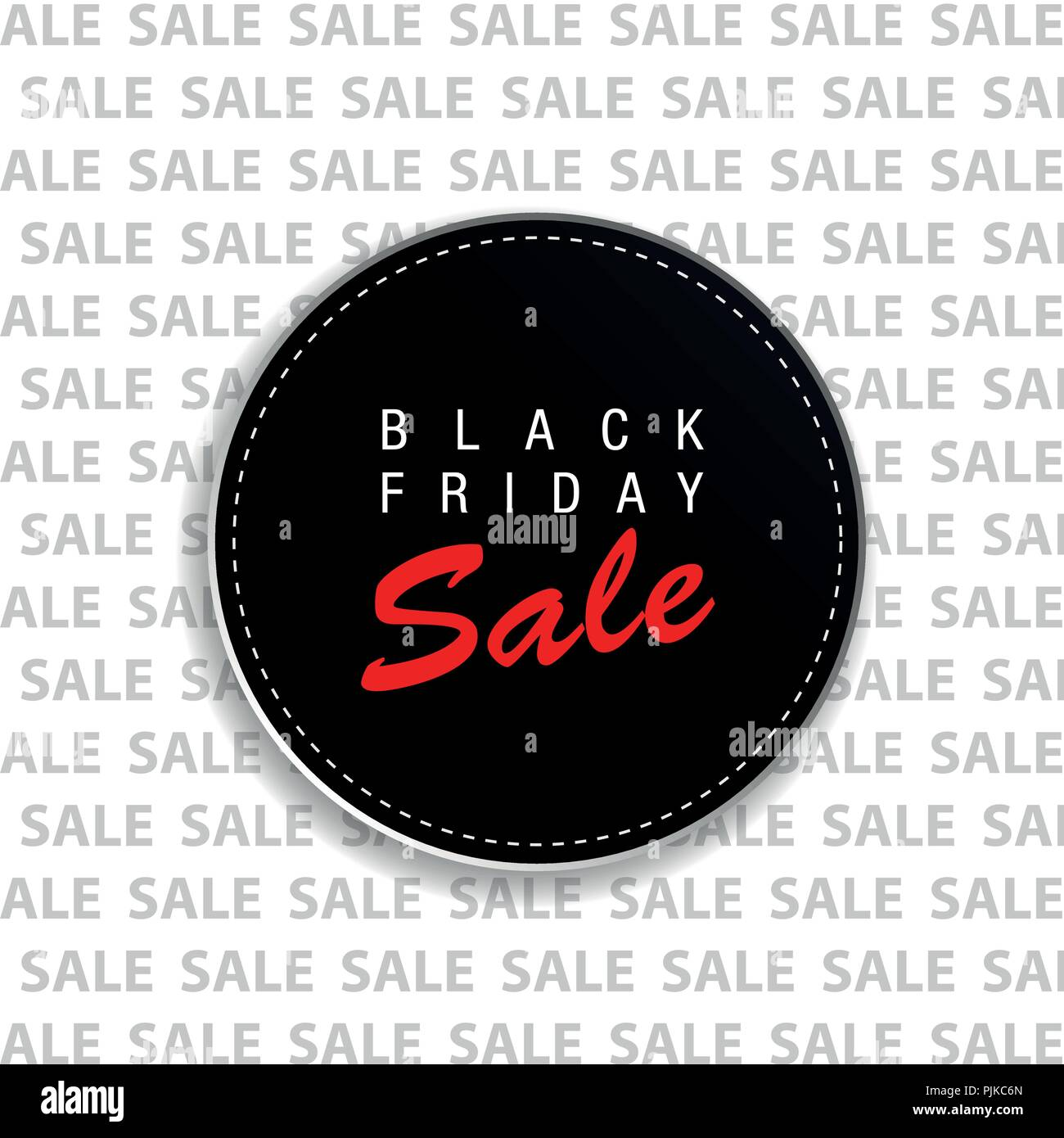 Black Friday tag advertising round banner on sale background vector illustration - Stock Vector
