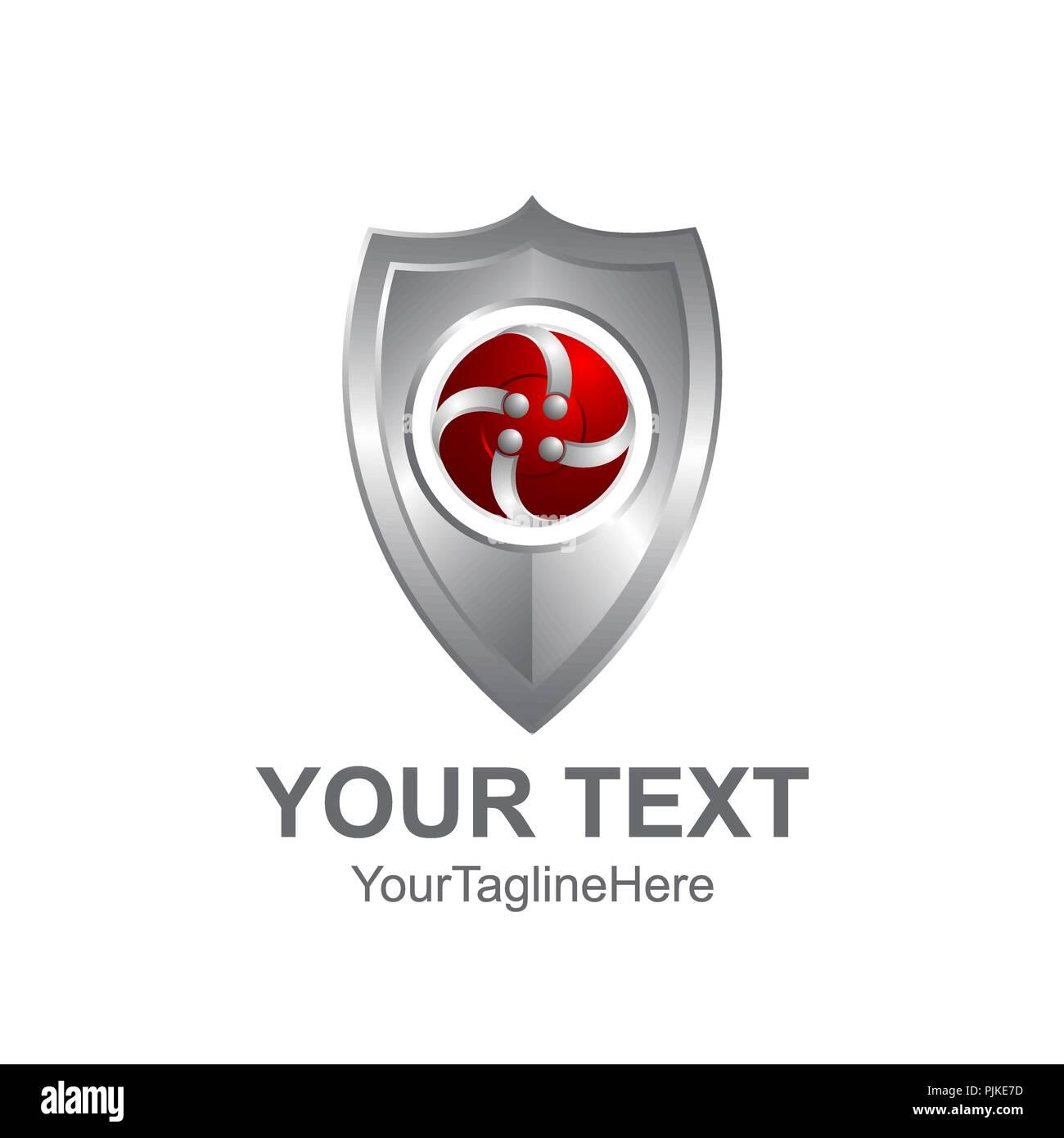 Creative Abstract 3d Badge Shape Shield Vector Logo Design Template