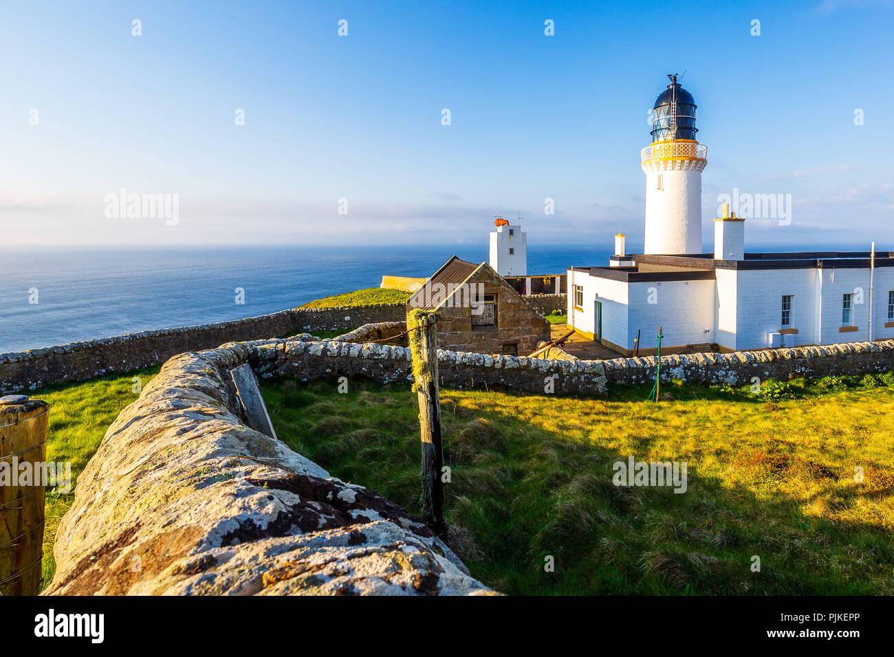Dunnet Head Lighthouse near Brough - Stock Image