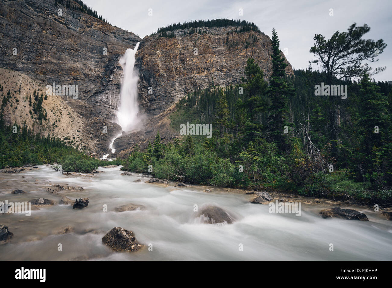 Takakkaw Falls, Yoho National Park, Canada Stock Photo
