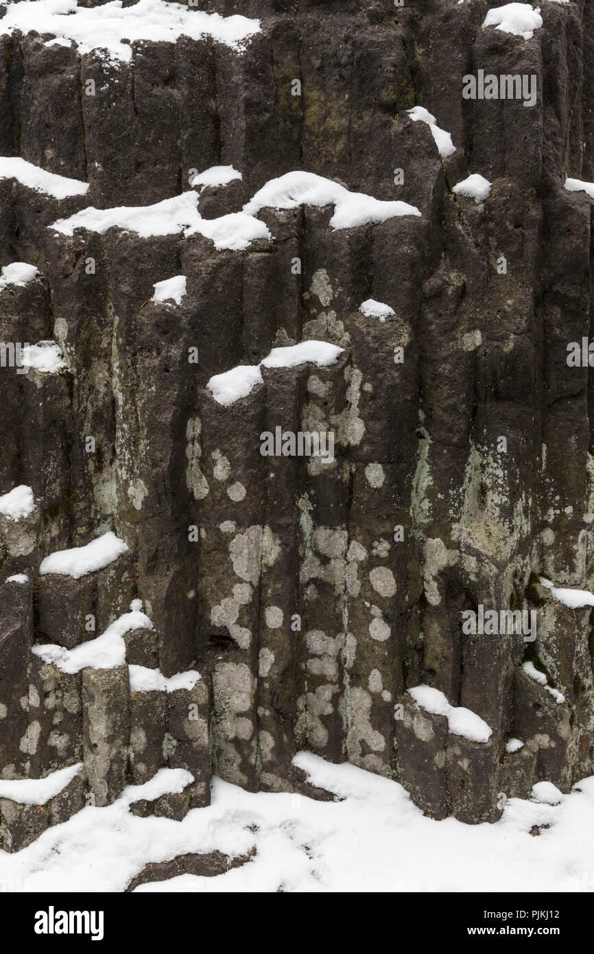 Germany, Saxony, Upper Lusatia, Jonsdorf, Millstone Quarries, Great Organ Stock Photo