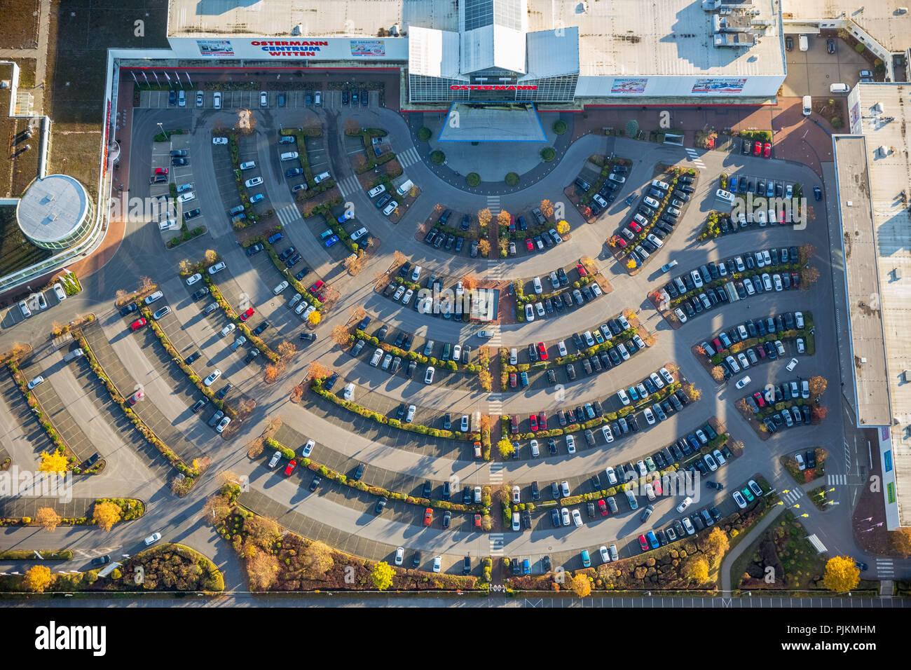 Aerial View Ostermann Einrichtungs Centrum Witten With Parking