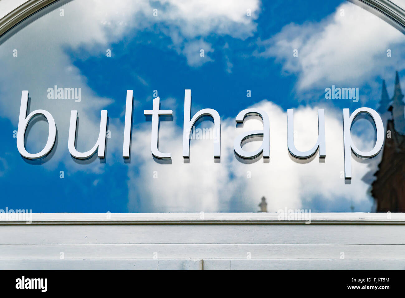 Wiesbaden germany june 03 2018 buldhaup logo on a facade buldhaup is a german kitchen furniture store