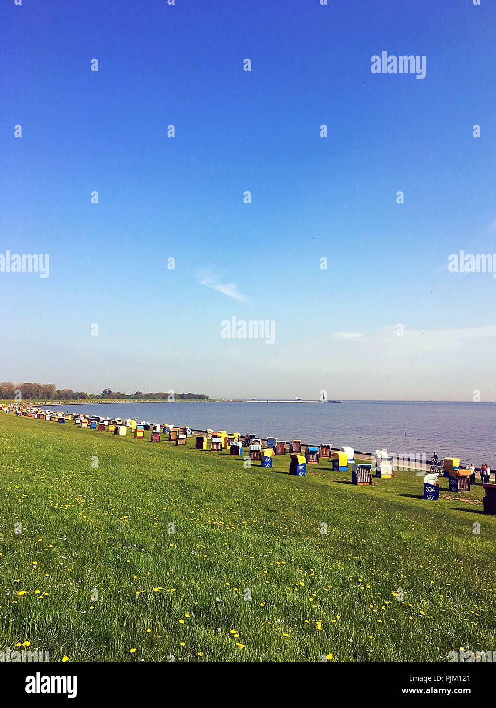 Summer in Cuxhaven - Stock Image