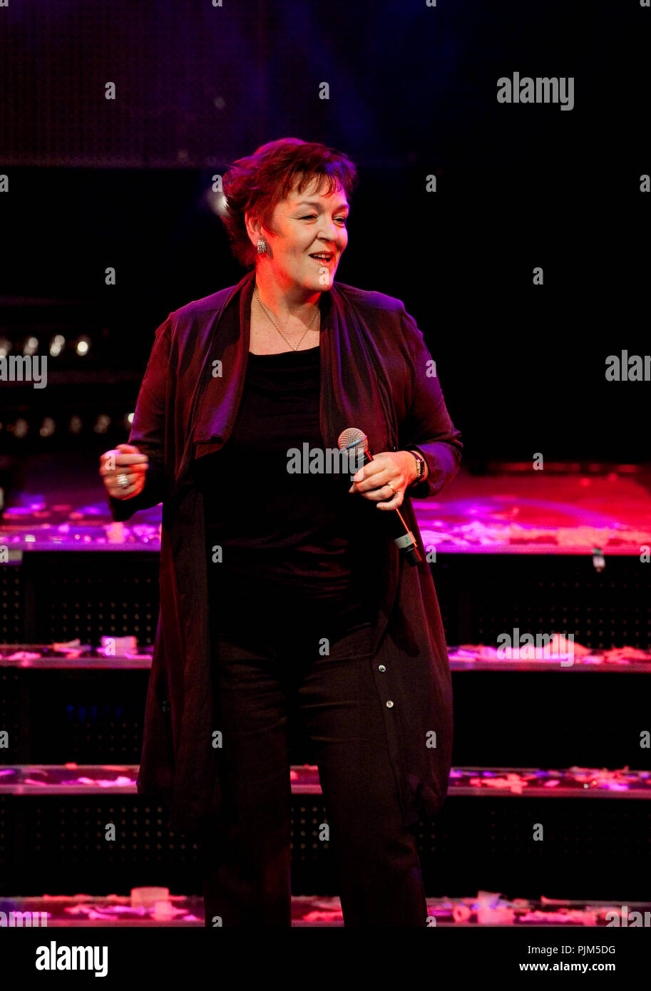 An excerpt of the musical No Nonsense, Never Give Up On The Heart at the Vlaamse Musicalprijzen ceremony (Belgium, 28/09/2010) - Stock Image
