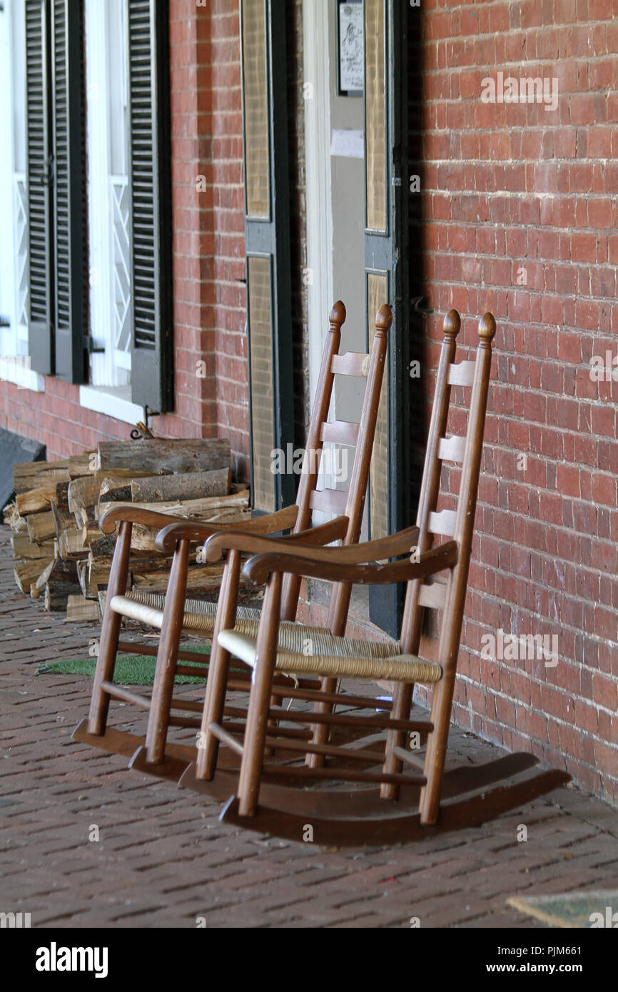Magnificent Rocking Chairs And Firewood Outside Dorms At University Of Gmtry Best Dining Table And Chair Ideas Images Gmtryco