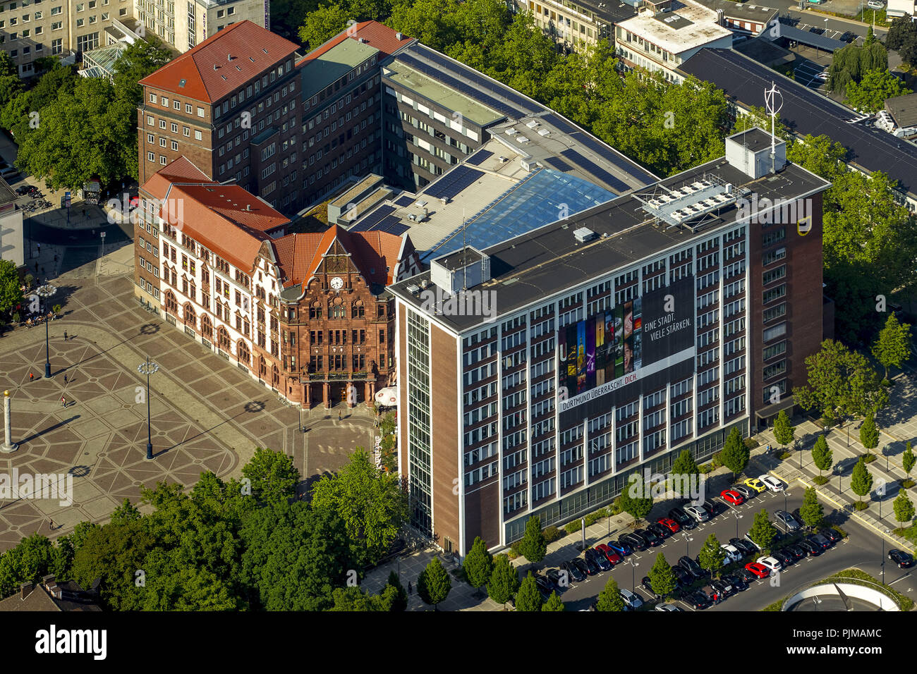 Dortmund, city administration Office for Housing and Urban Renewal, Dortmund, Ruhr Area, North Rhine-Westphalia, Germany - Stock Image
