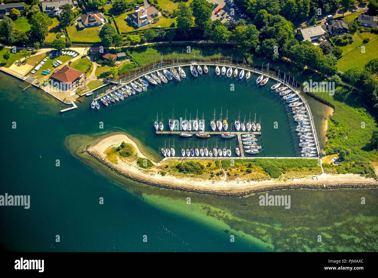 Neustädter Segelverein eV, Neustadt in Holstein, Bay of Lübeck, Hanseatic City, Schleswig-Holstein, Germany - Stock Image