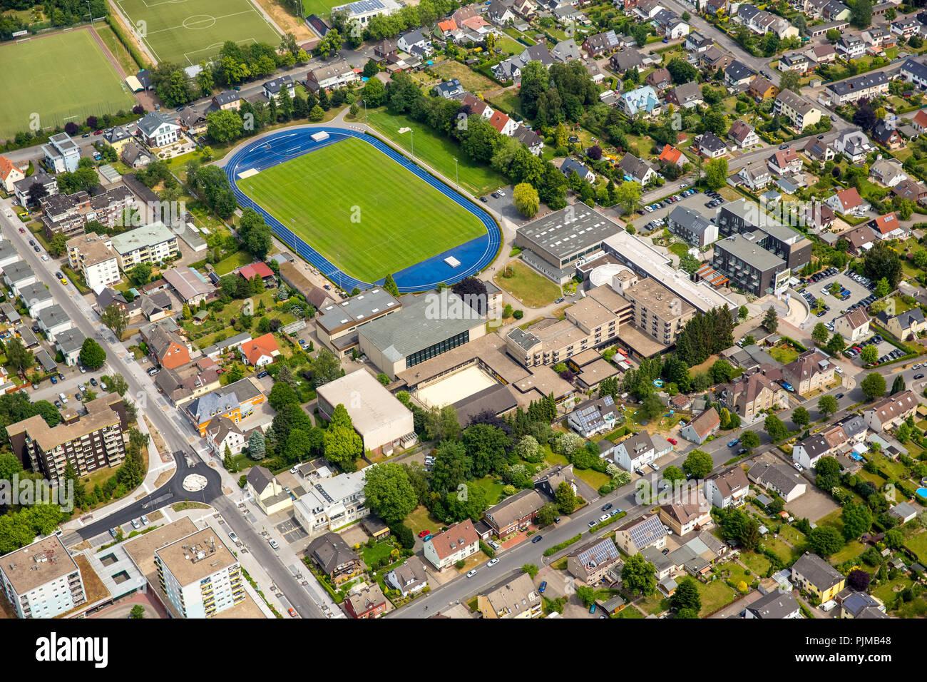 SportCentrum Kaiserau, sports center Kaiserau, performance center, training center for competitive football, Kamen, Ruhr area, North Rhine-Westphalia, Germany - Stock Image