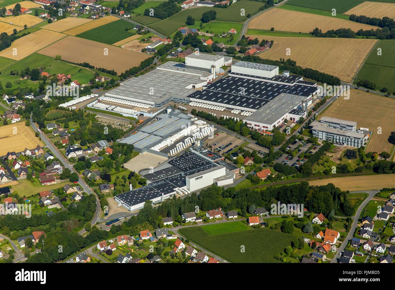 Bieren, Häcker Kitchens GmbH & Co. KG, Roedinghausen, East Westphalia, North Rhine-Westphalia, Germany - Stock Image