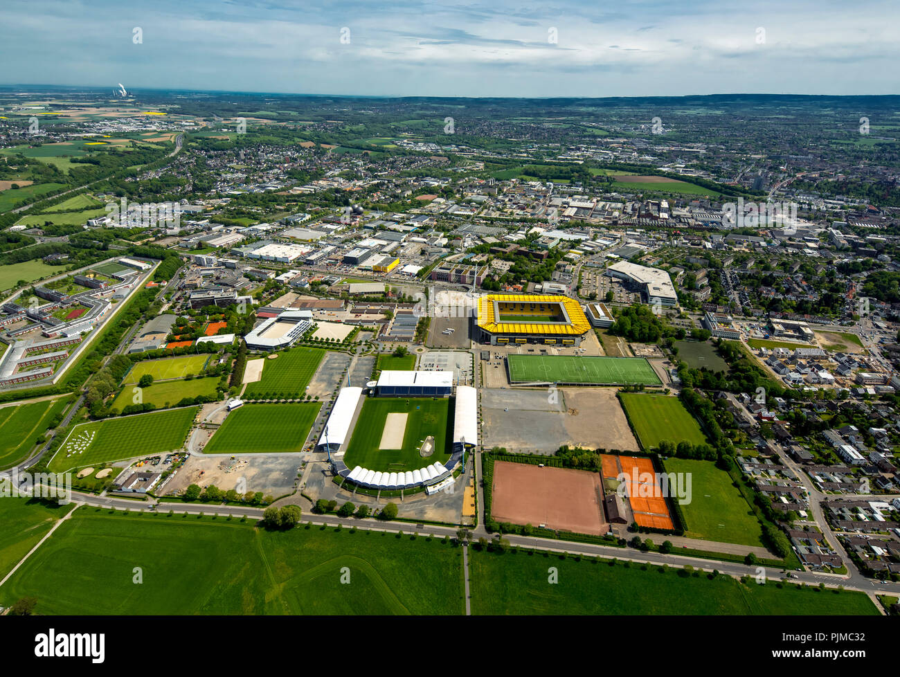 Aachen-Laurensberger Rennverein eV in front, Tivoli, football stadium of Alemannia Aachen, Aachen, Meuse-Rhine Euroregion, North Rhine-Westphalia, Germany - Stock Image