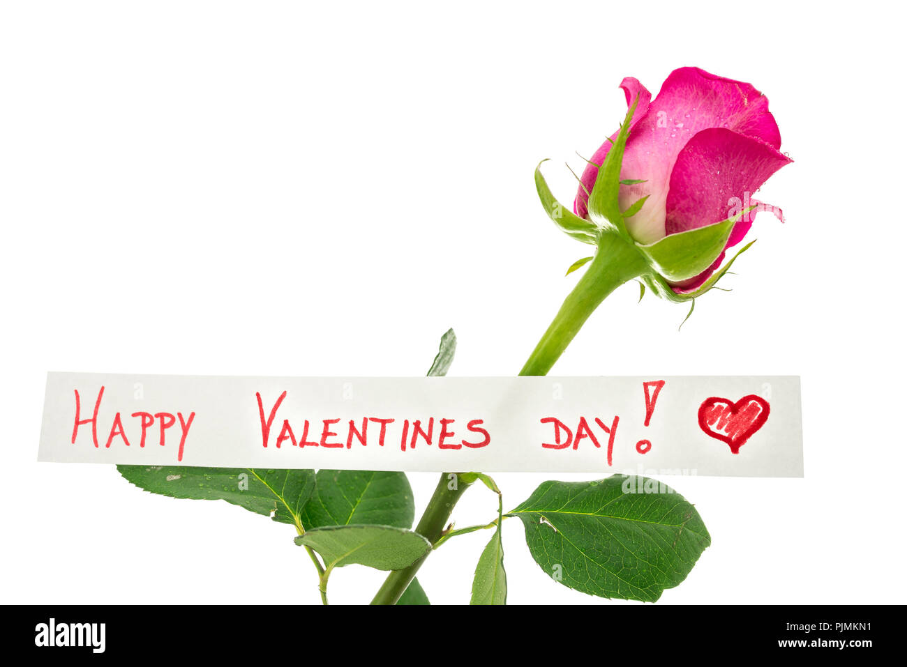 Happy Valentines Day Greeting Card With A Handwritten Message And