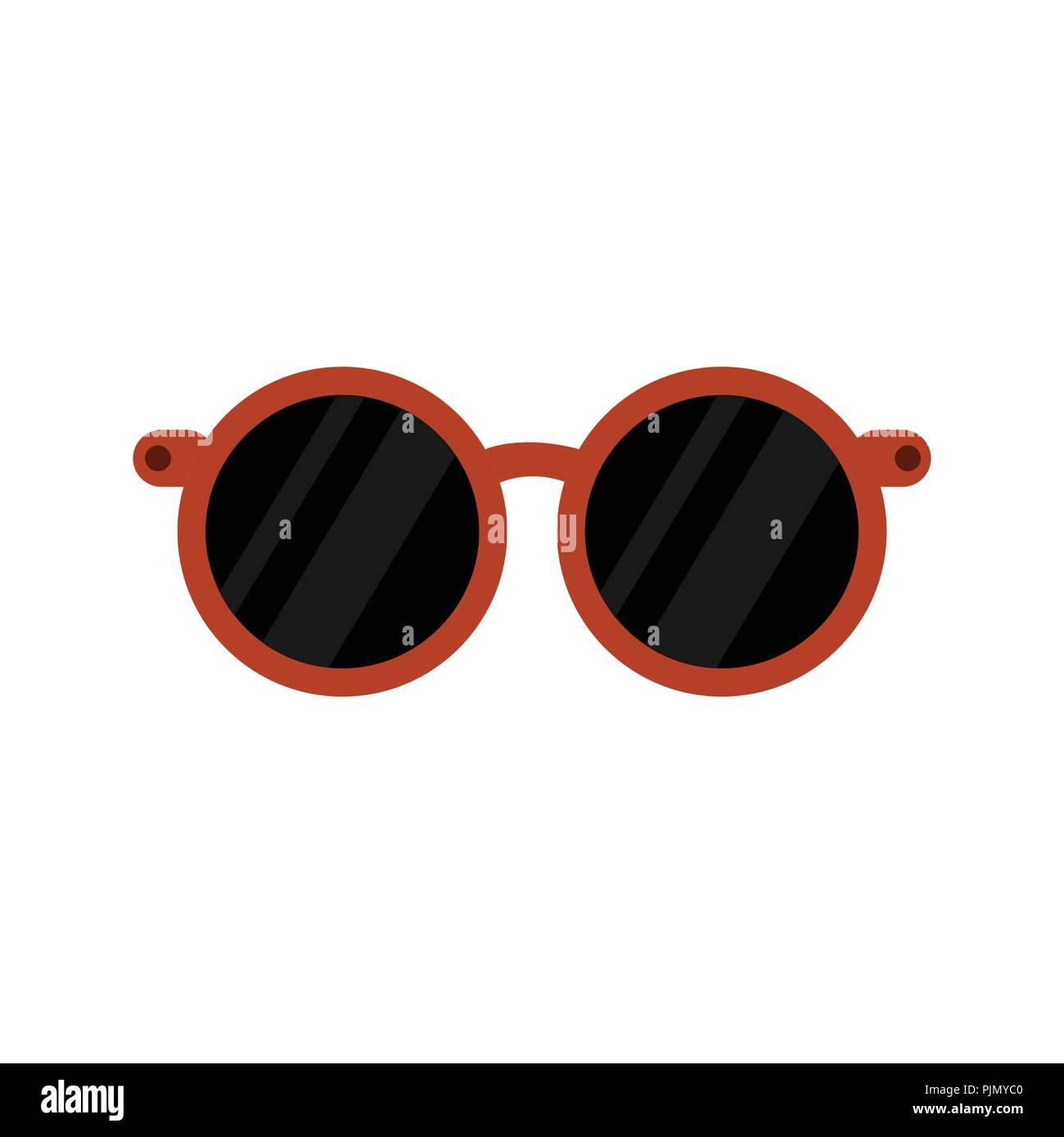 Eyegl Template   Stylish Rounded Eyeglasses Black Vector Illustration Object Graphic