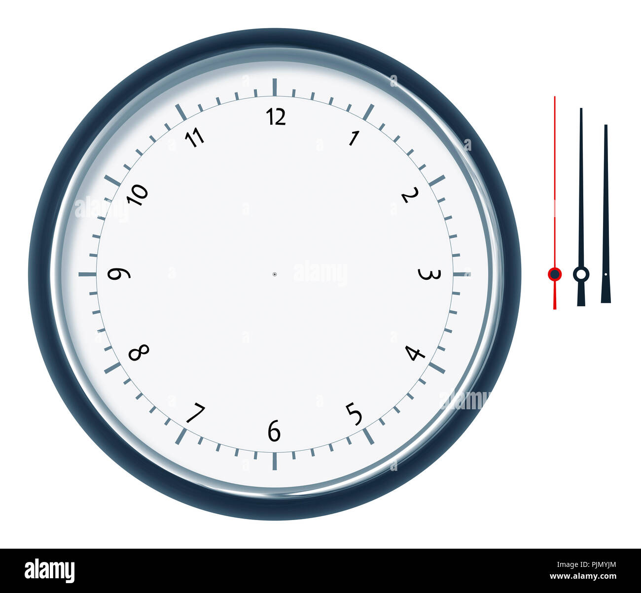 An image of a nice clock construction set - Stock Image