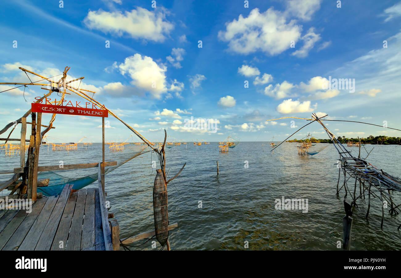 Thale Noi Waterfowl Park, Phatthalung, Thailand - Stock Image