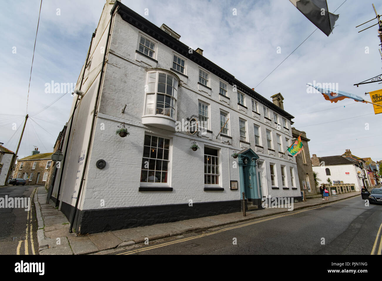 Artists residence Chapel Street Penzance - Stock Image