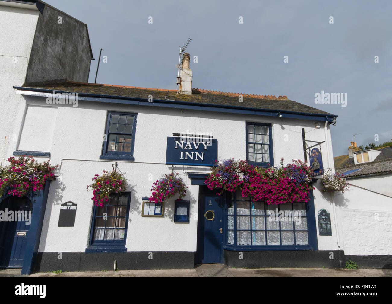 The Navy Inn in penance - Stock Image