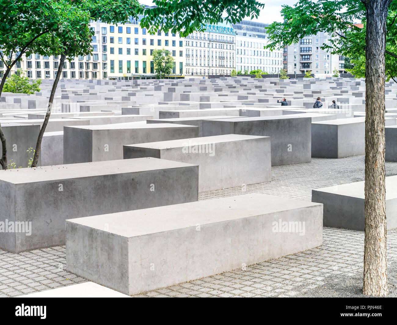 An admission of the Holocaust monument in the German capital of Berlin., Eine Aufnahme vom Holocaust-Denkmal in der deutschen Hauptstadt Berlin. - Stock Image