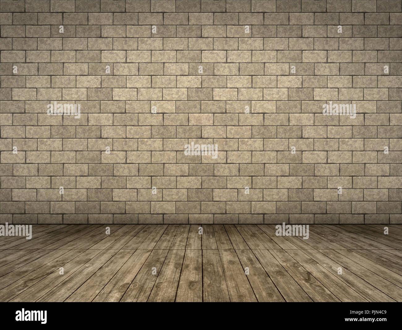 An Empty Old Space With Old Wooden Floor Ein Leerer Alter Raum Mit