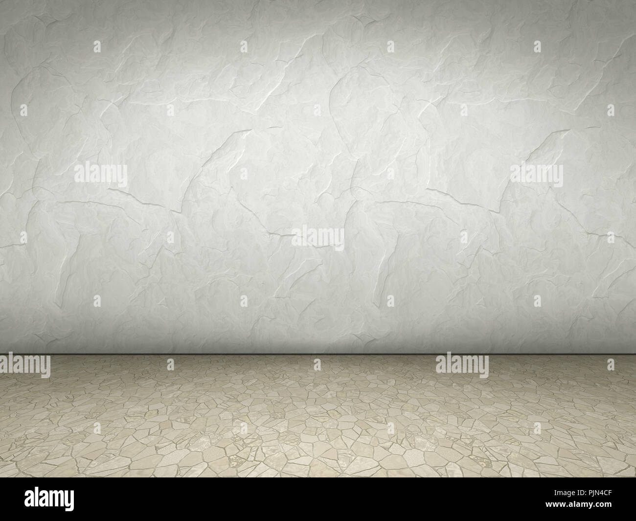 Fesselnd An Empty Space With White Wall, Ein Leerer Raum Mit Weisser Wand   Stock  Image