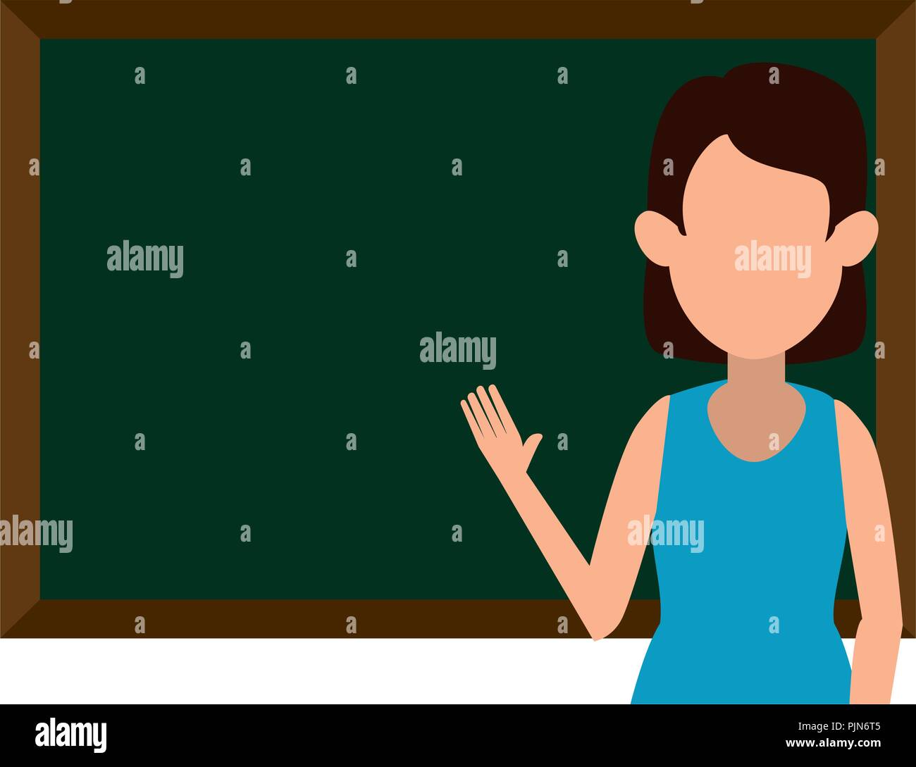 woman teaching with chalkboard character stock vector art