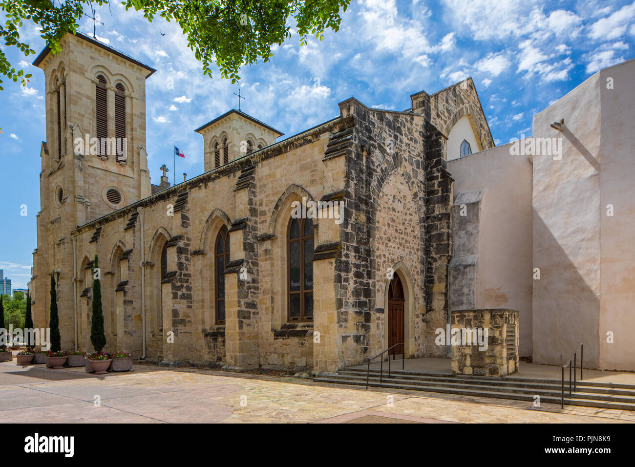 San Fernando Cathedral (Spanish: Catedral de San Fernando) (also called the Cathedral of Our Lady of Candelaria and Guadalupe (Spanish: Catedral de Nu - Stock Image