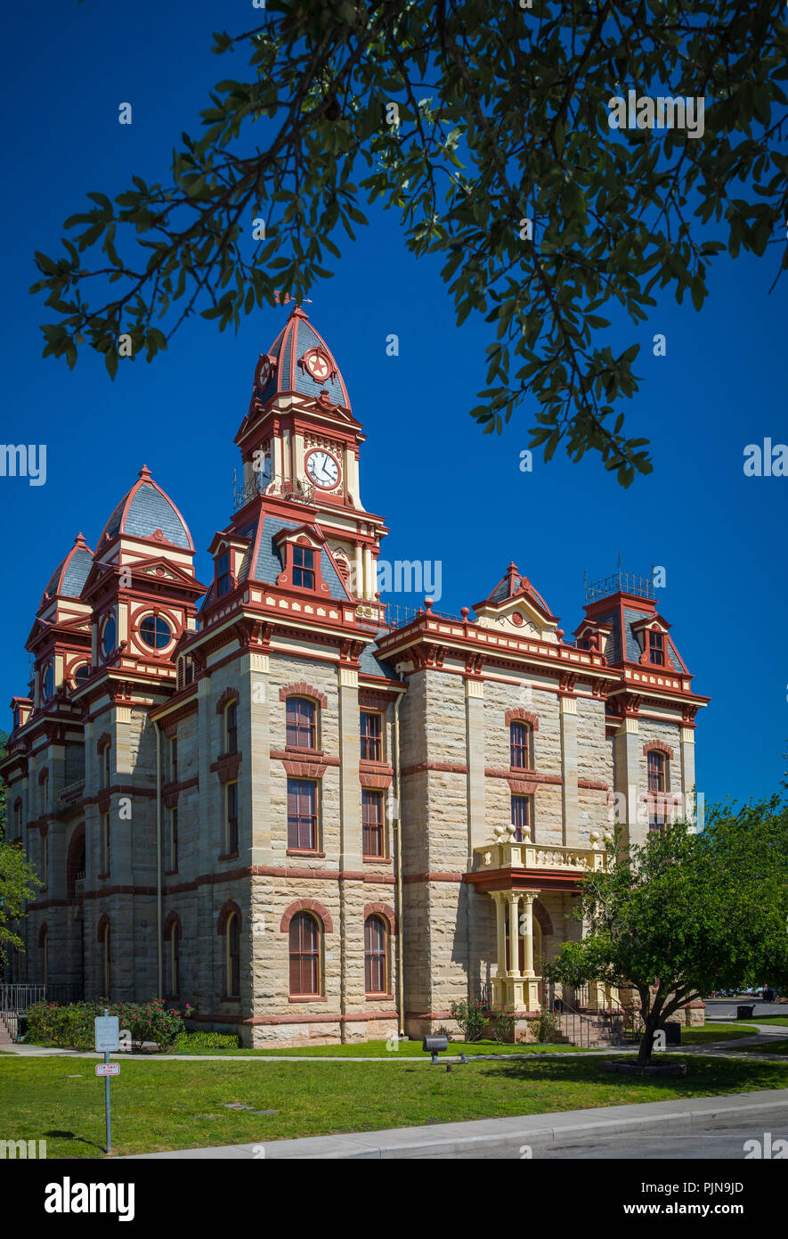 The city of Lockhart is named after Byrd Lockhart, an assistant surveyor of Green DeWitt and reportedly the first Anglo to set foot in Caldwell County. - Stock Image