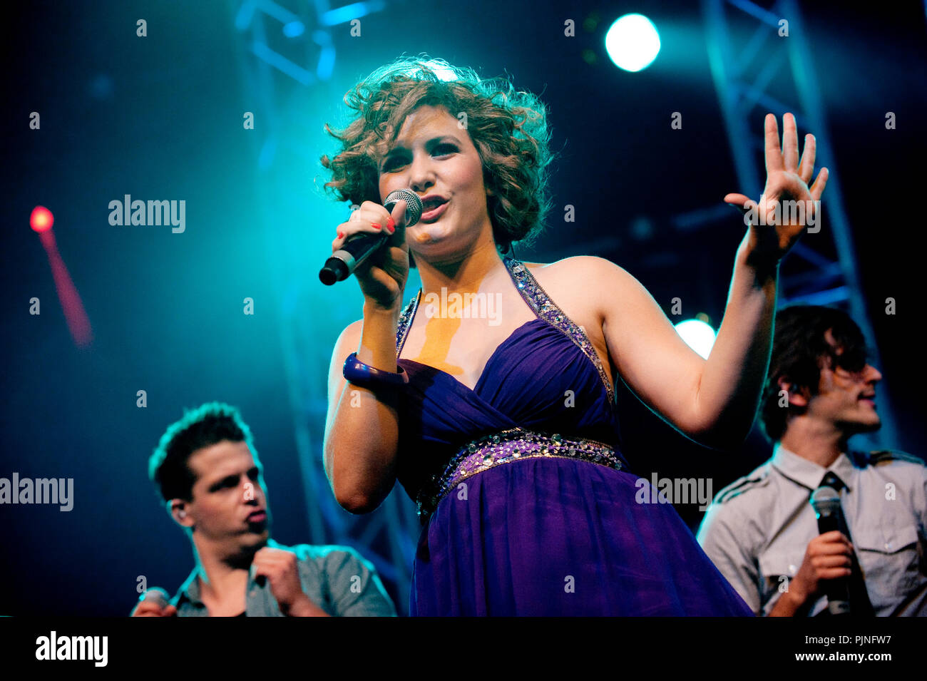 The Idool Live On Stage concert in the Lotto Arena, Antwerp (Belgium, 25/06/2011) Stock Photo