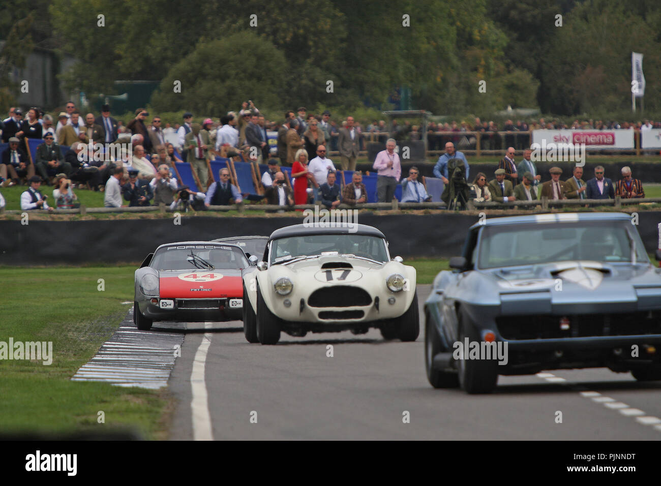 Goodwood, West Sussex, UK. 8th September 2018. RAC TT celebration at the 20th Goodwood Revival in Goodwood, West Sussex, UK. © Malcolm Greig/Alamy Live News Stock Photo