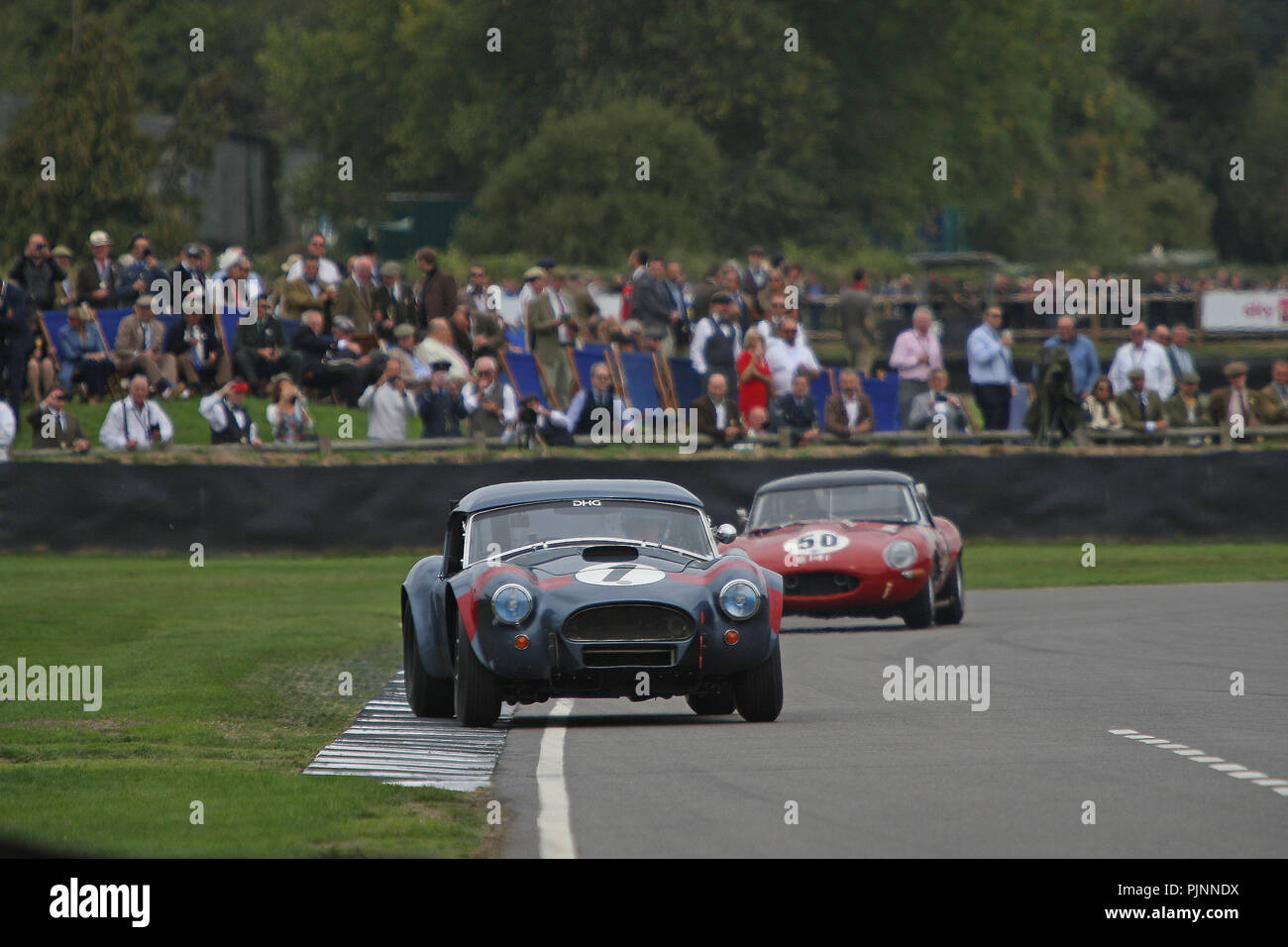 Goodwood, West Sussex, UK. 8th September 2018. RAC TT celebration at the 20th Goodwood Revival in Goodwood, West Sussex, UK. © Malcolm Greig/Alamy Live News - Stock Image