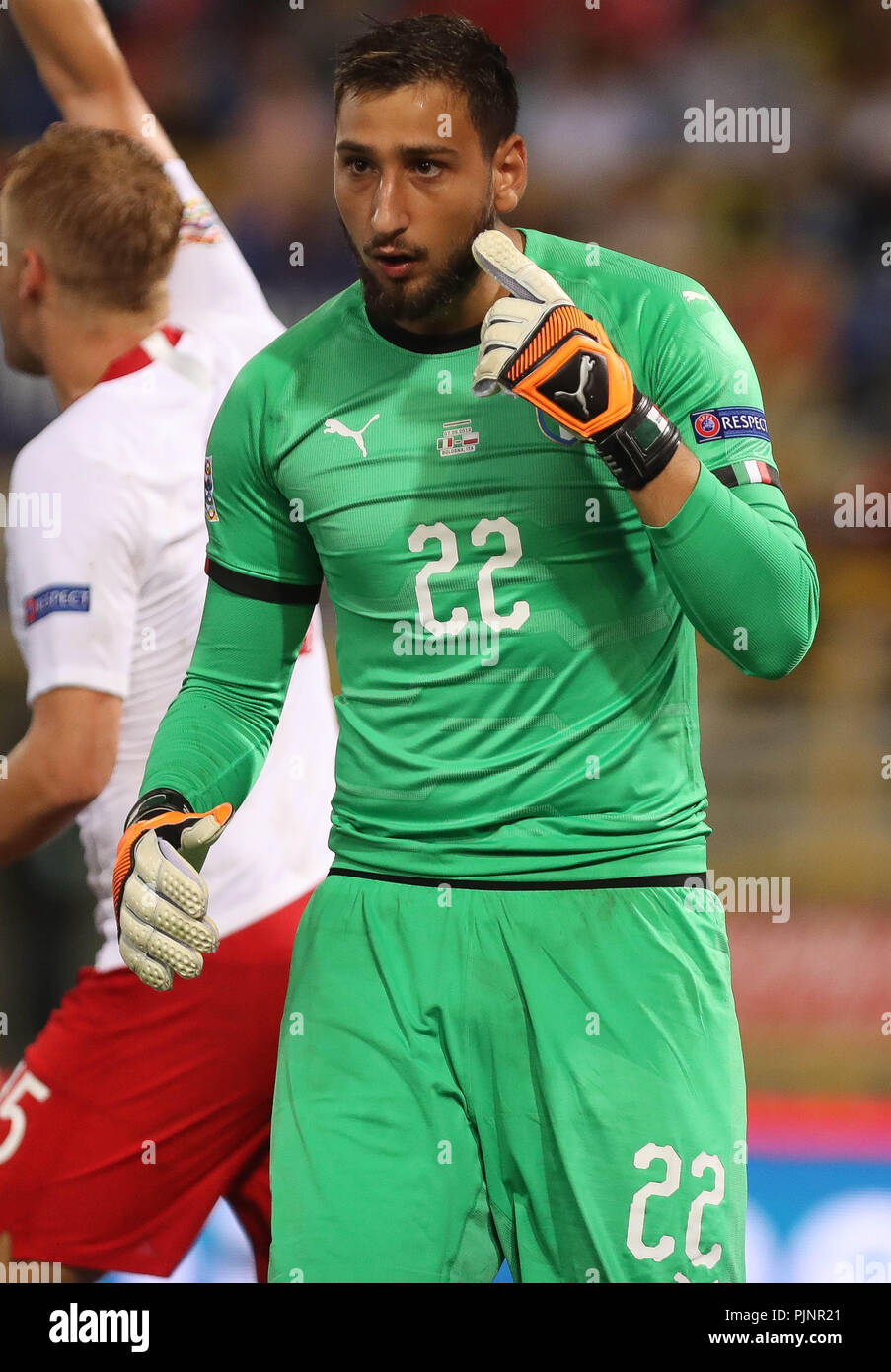 Bologna Italy 7th September 2018 Gianluigi Donnarumma Italy During The Uefa Nations League League A Group 3 Football Match Between Italy And Poland On September 7 2018 At Renato Dall Ara Stadium In