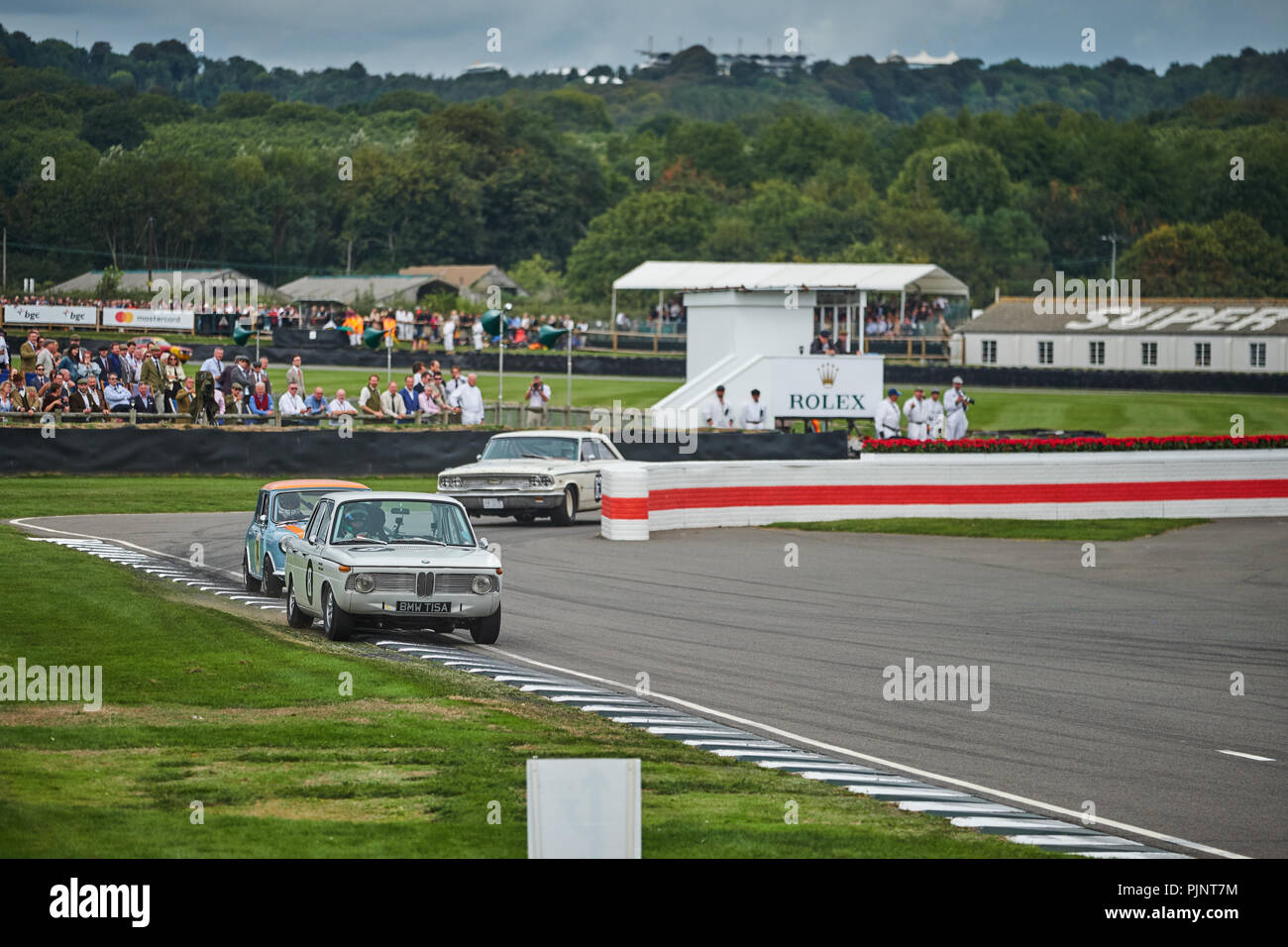 Chichester, West Sussex, UK, 8th September 2018. Car race during the Goodwood Revival at Goodwood Motor Credit: Gergo Toth/Alamy Live News Stock Photo