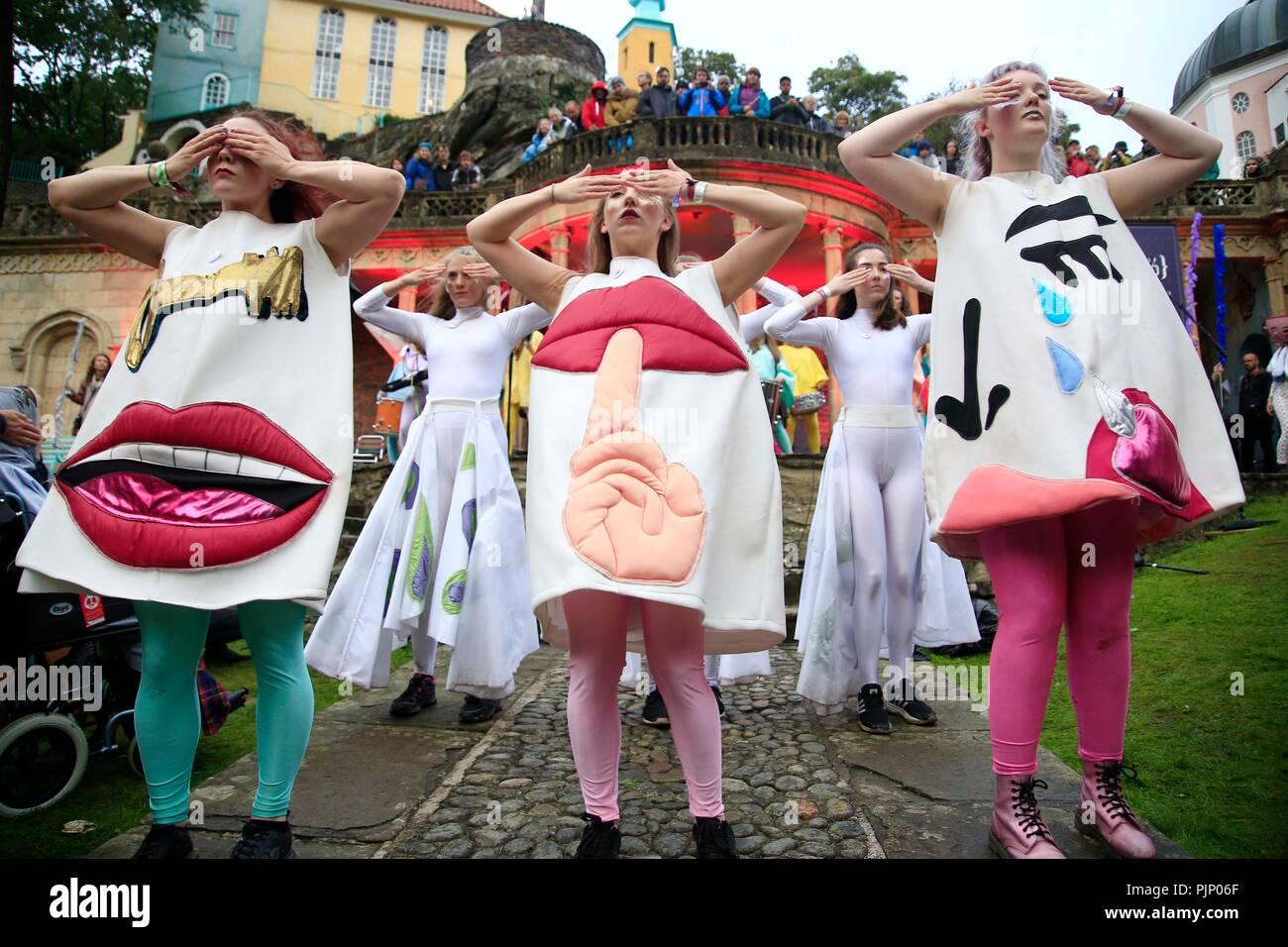 No 6 Festival Portmeirion Stock Photo