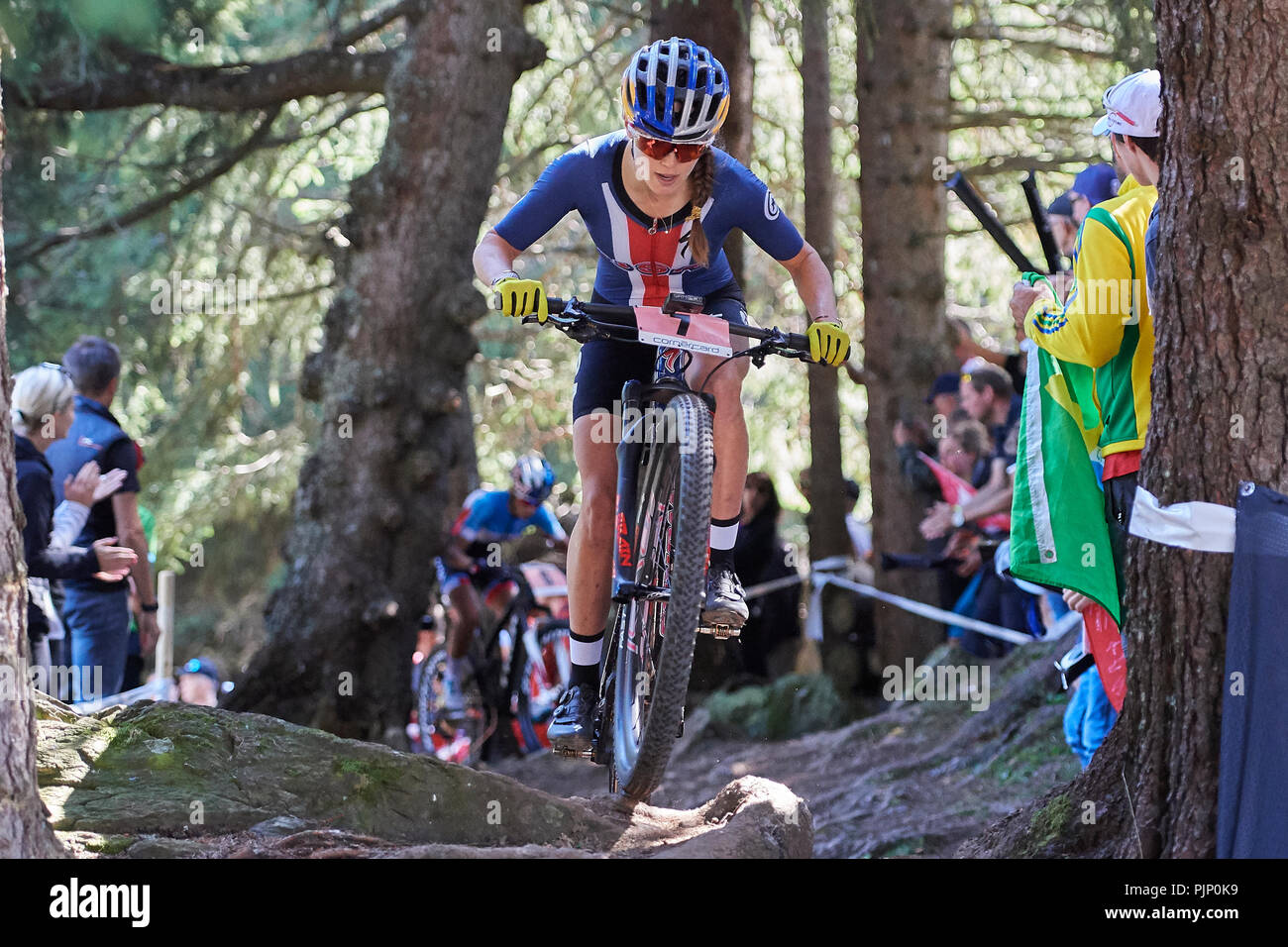 48b20ec690c Kate Courtney during the UCI 2018 Mountain Bike World Championships Women  Elite Cross Country Olympic XCO in Lenzerheide. Credit: Rolf Simeon/Alamy  Live ...