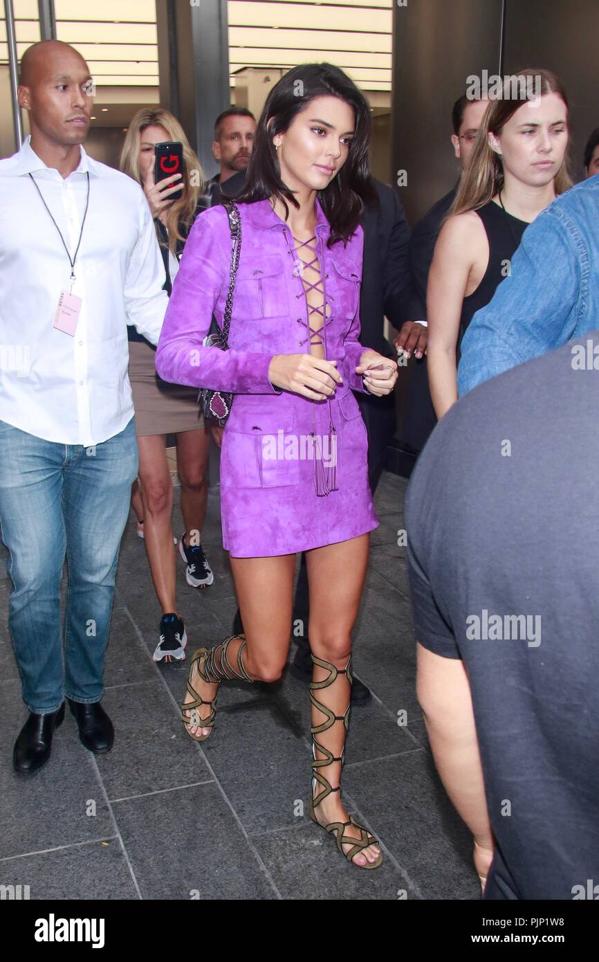 New York, NY, USA. 8th Sep, 2018. Kendall Jenner is seen on September 8, 2018 in New York City. Credit: Dc/Media Punch/Alamy Live News - Stock Image