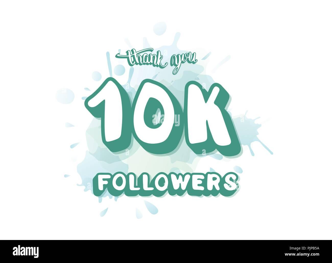 10k followers thank you social media template banner for internet