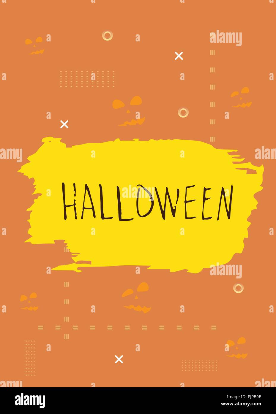 halloween poster template for holiday design vector illustration
