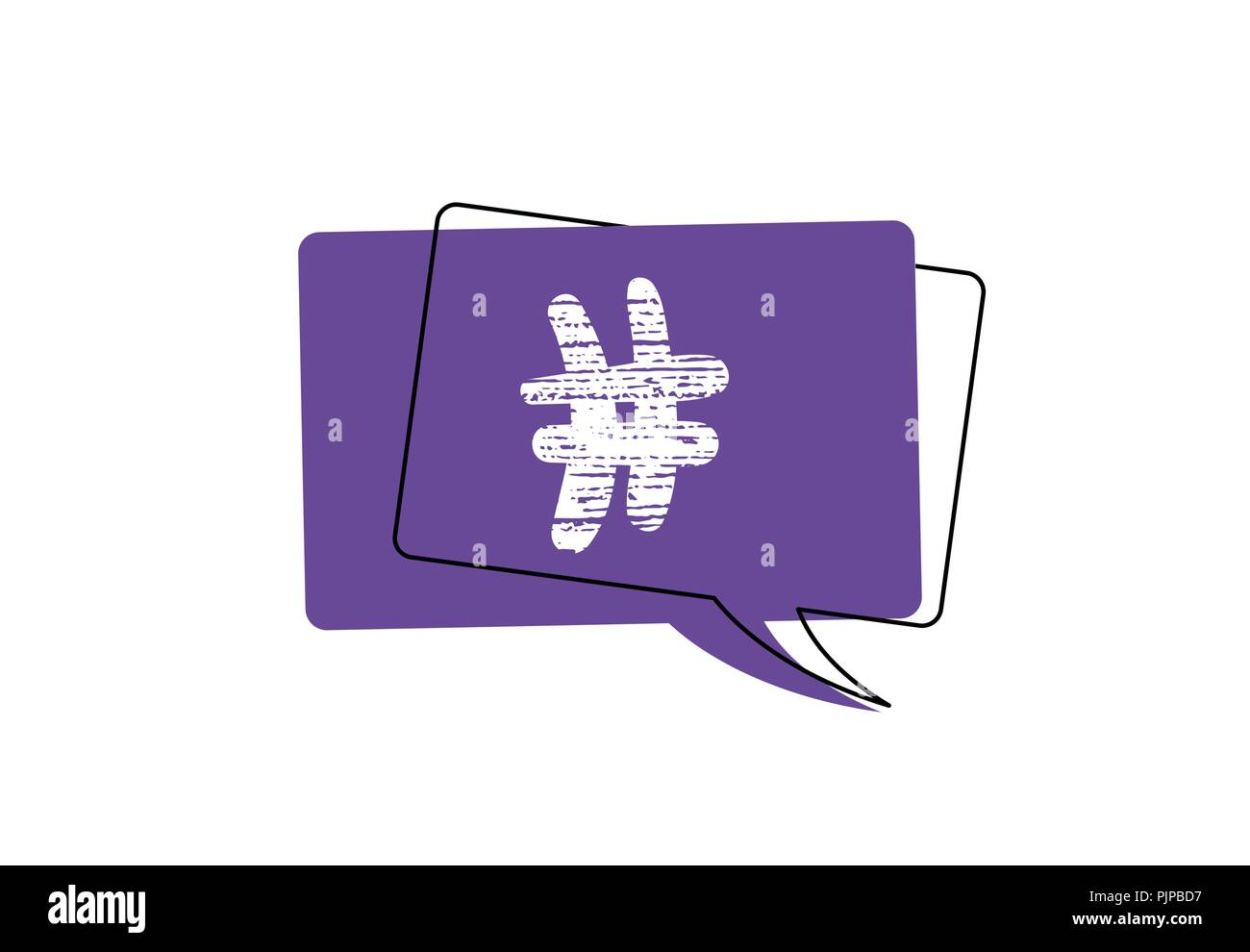 Hashtag Signs With Decoration Hash Tag Symbol With Speech Bubble