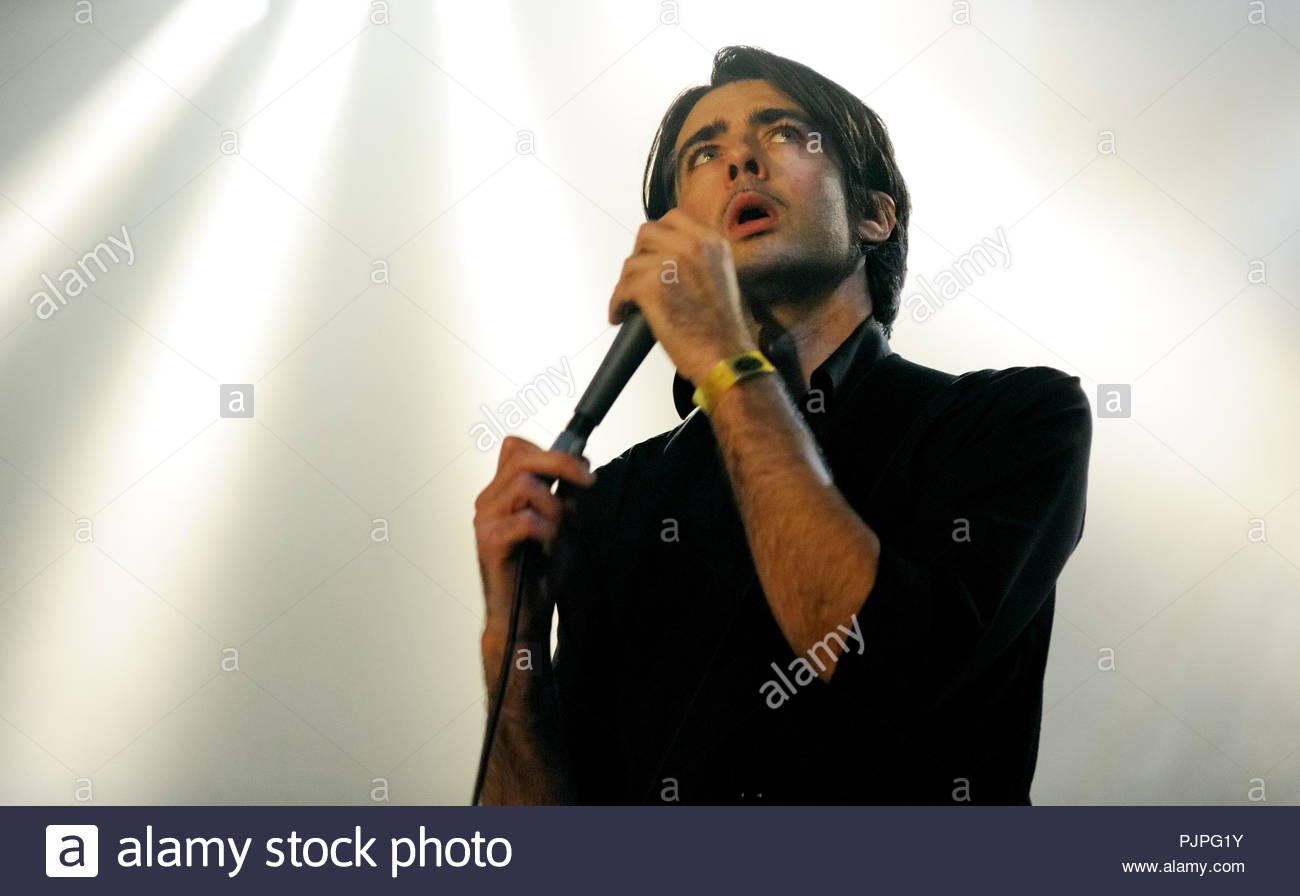 Mauro Pawlowski performing with his band 'Pawlowski' at the De Nachten festival in Antwerp (Belgium, 07/11/2008) - Stock Image