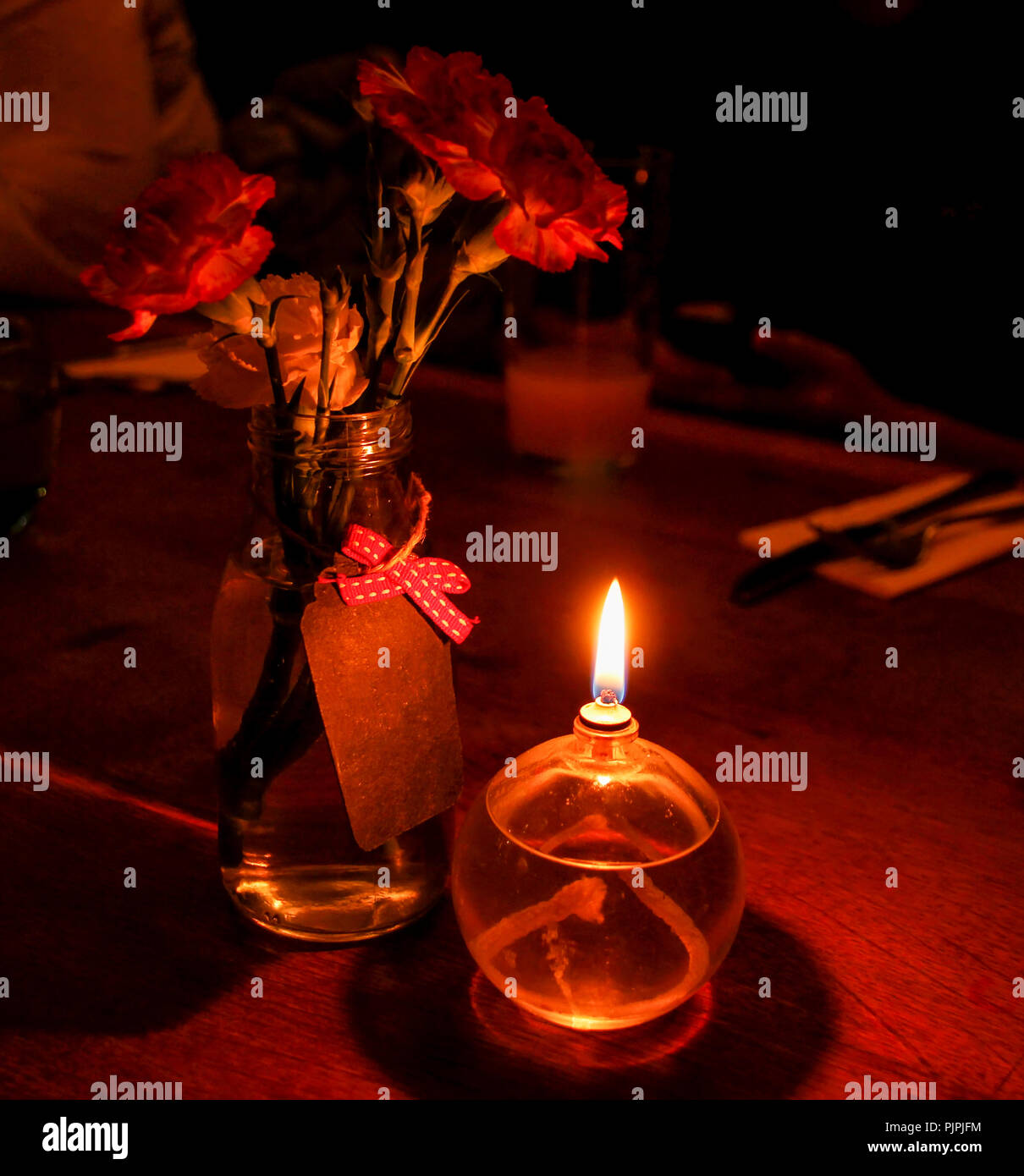 Crieff Hydro Christmas Party Nights: Candle Light Dinner Stock Photos & Candle Light Dinner